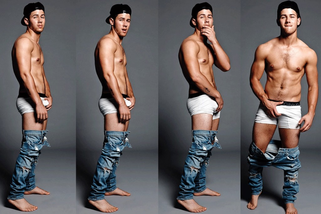 Nick's infamous Flaunt magazine photo shoot.