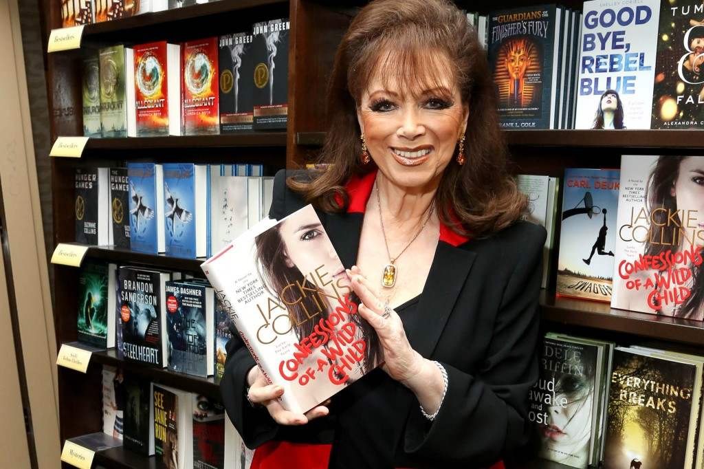 "NEW YORK, NY - FEBRUARY 05: Jackie Collins promotes her new book ""Confessions Of A Wild Child"" at Barnes & Noble, 86th & Lexington on February 5, 2014 in New York City. (Photo by Rob Kim/Getty Images)"