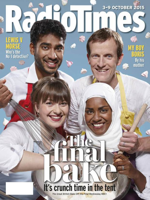 TO USED IN CONJUCTION WITH PA STORY SHOWBIZ BakeOff EMBARGOED TO 0001 TUESDAY SEPTEMBER 29 Undated handout photo of the cover of this week's Radio Times showing the semi-finalists of the Great British Bake Off. PRESS ASSOCIATION Photo. Issue date: Tuesday September 29, 2015. See PA story SHOWBIZ BakeOff. Photo credit should read: Radio Times/PA Wire NOTE TO EDITORS: This handout photo may only be used in for editorial reporting purposes for the contemporaneous illustration of events, things or the people in the image or facts mentioned in the caption. Reuse of the picture may require further permission from the copyright holder.
