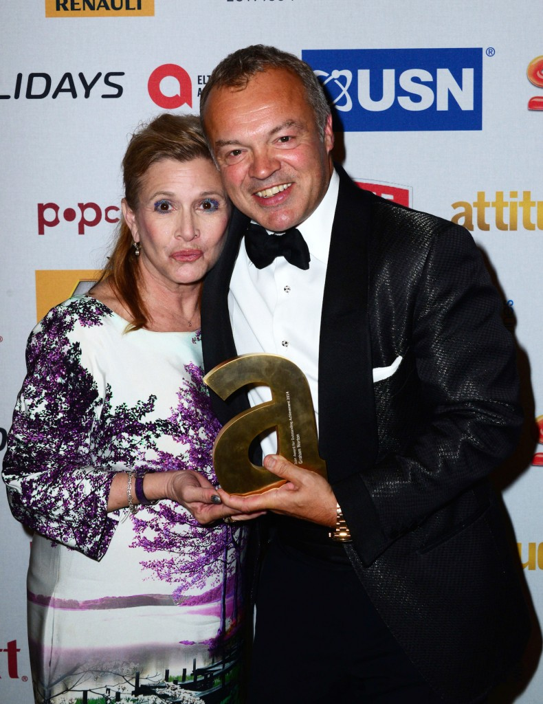 Carrie Fisher and Graham Norton