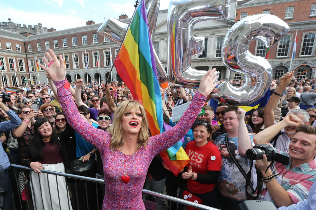 Same-sex marriage referendum, Dublin, Ireland - 23 May 2015