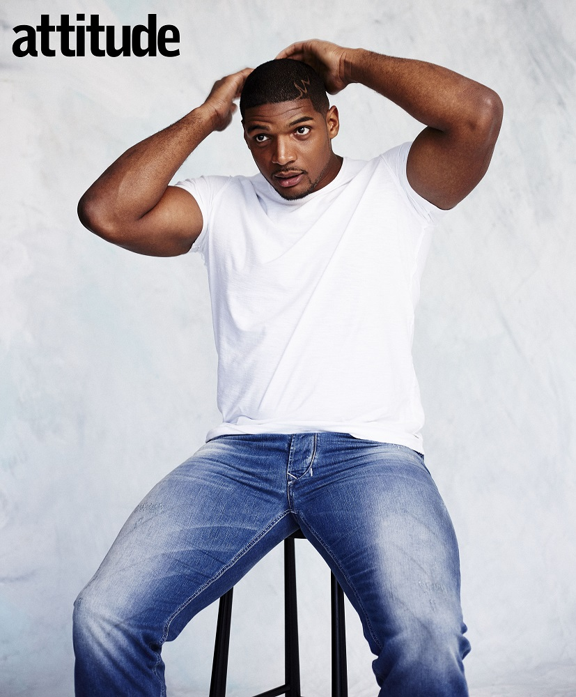 Michael Sam, NFL Football Player, shot for Attitude Magazine, April 2016 Cover