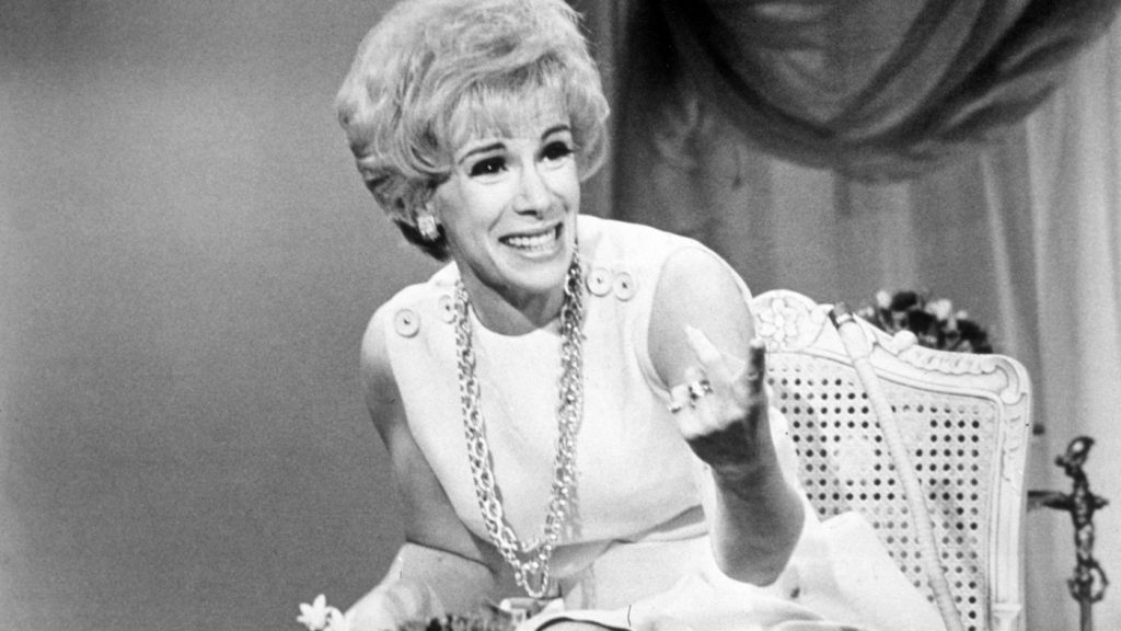 1969, American comedian Joan Rivers laughs while hosting the television program 'That Show'. (Photo by Getty Images/Getty Images)