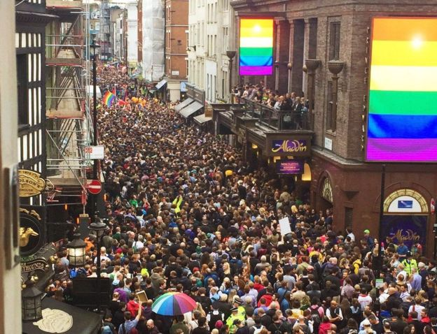 Old Compton St pulls in the crowds to remember the fallen of Orlando