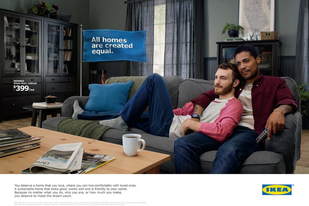 gay couple star in new ikea ad showing. Black Bedroom Furniture Sets. Home Design Ideas