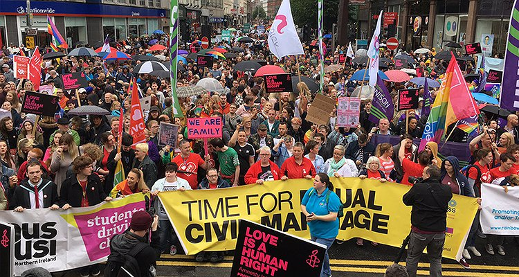 Parliament backs legalisation of equal marriage in Northern Ireland