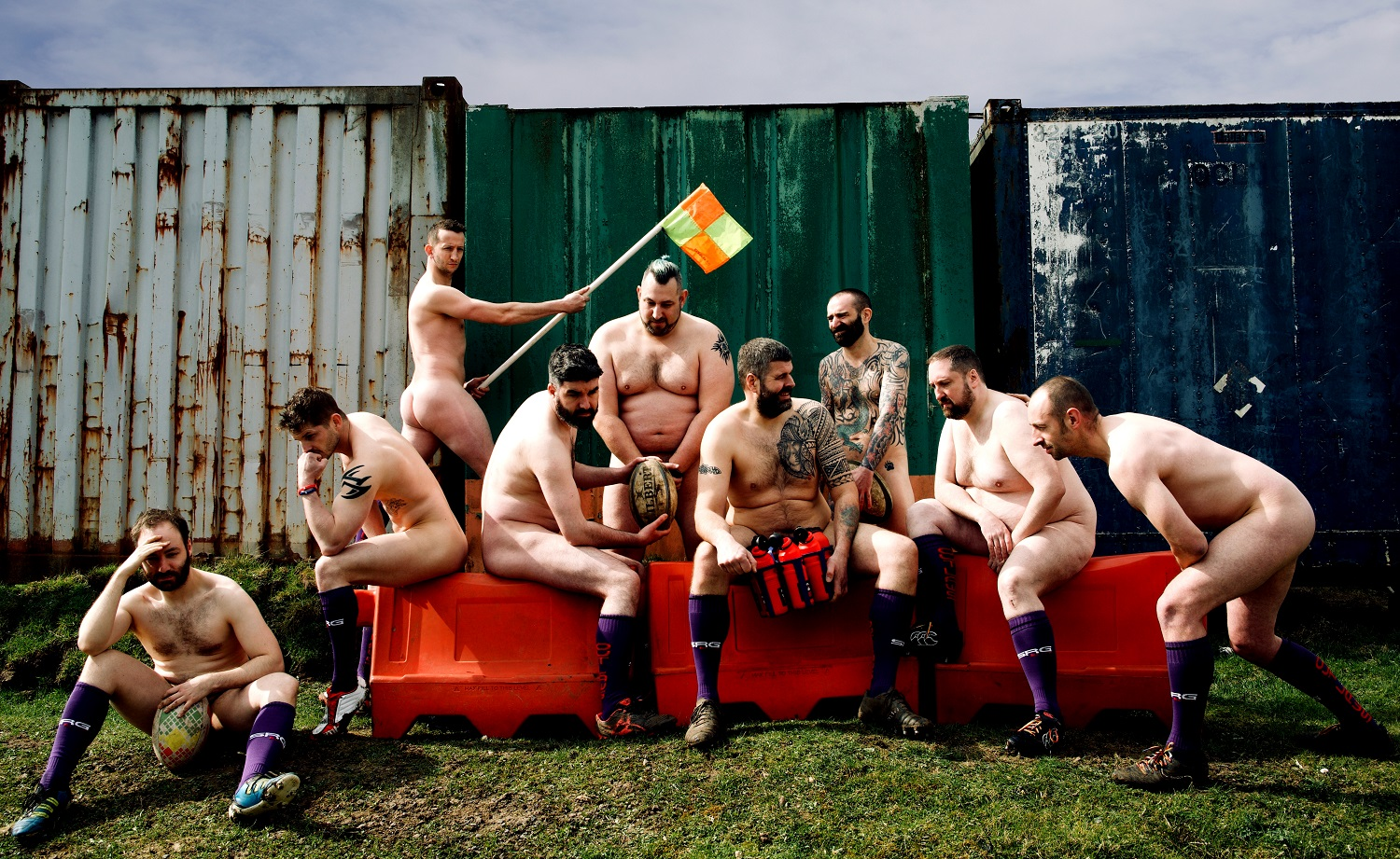 Gay rugby players go naked to raise awareness around testicular cancer