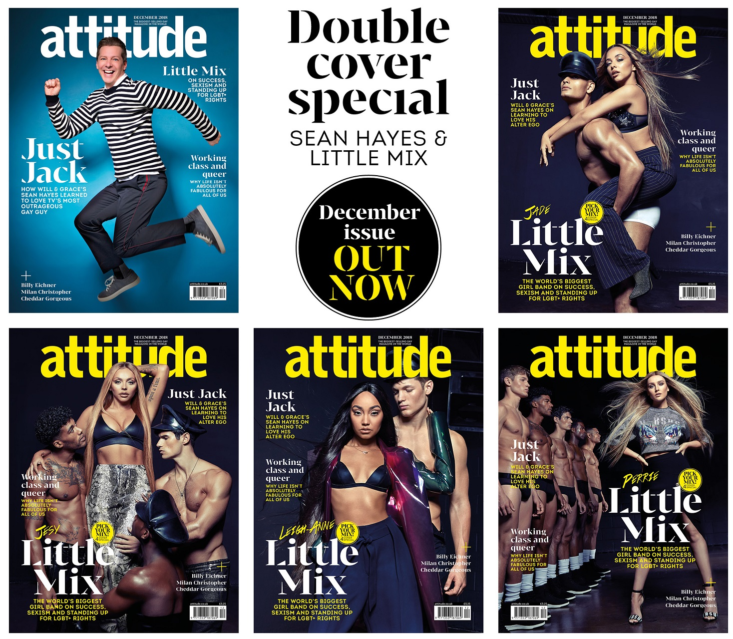 Sean Hayes and Little Mix Attitude December cover ...